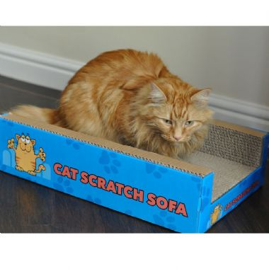 Cat Scratch Sofa Lounge including free cat-nip - Cardboard Scratcher Post